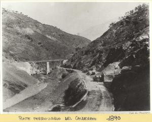 Costruzione ponte ferroviario del Calderaio, 1890