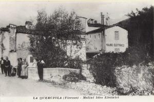 La Querciola, molini idroelettrici, 1910