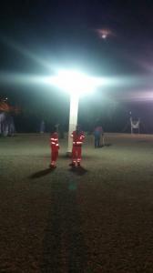 Il campo di Cornillo la notte