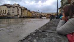 Uffizi: servizio di piena fiume Arno